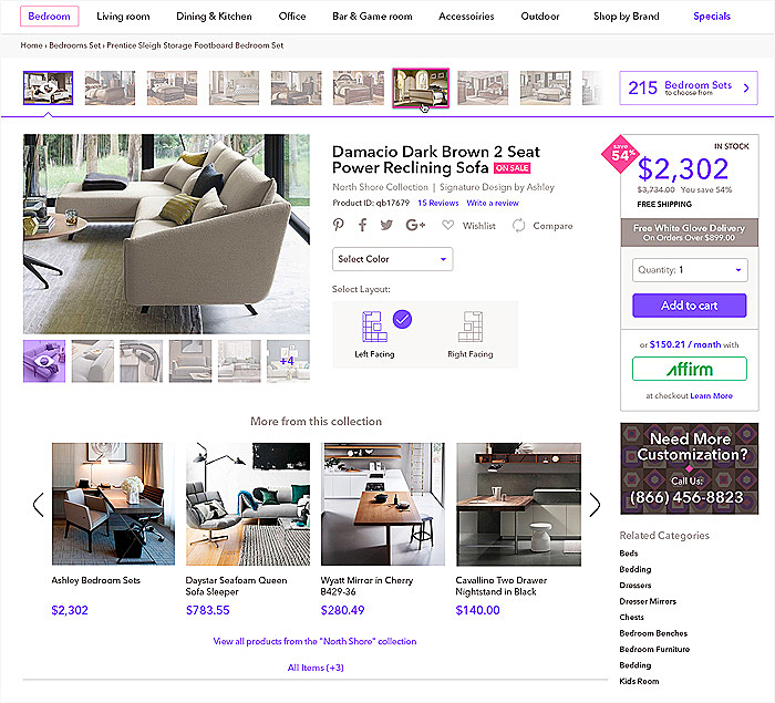 e-commerce website redesign