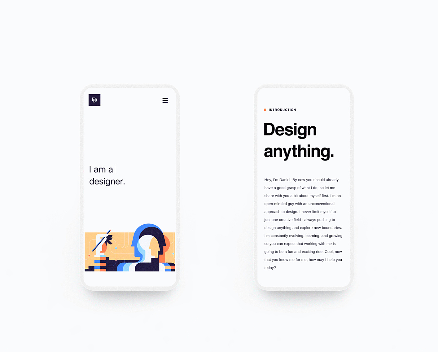 custom illustrations for mobile app