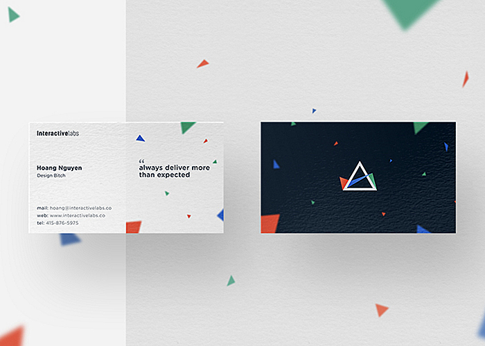 business cards brand identity