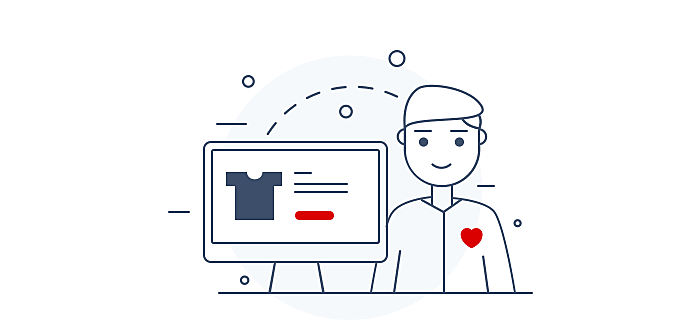 ecommerce emotional connection illustration