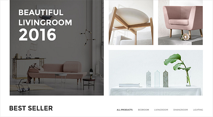 minimalist furniture website design