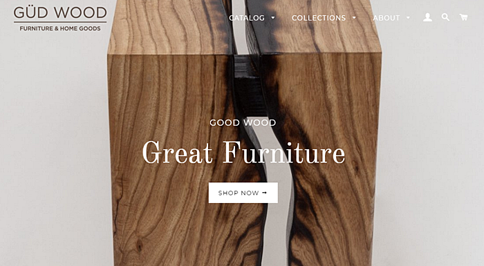 wood furniture website design