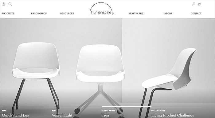 scandinavian furniture website design